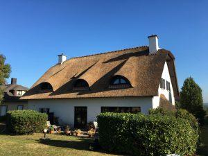 Rieten dak opgeleverd door Rietdekkersbedrijf Scholman Varik