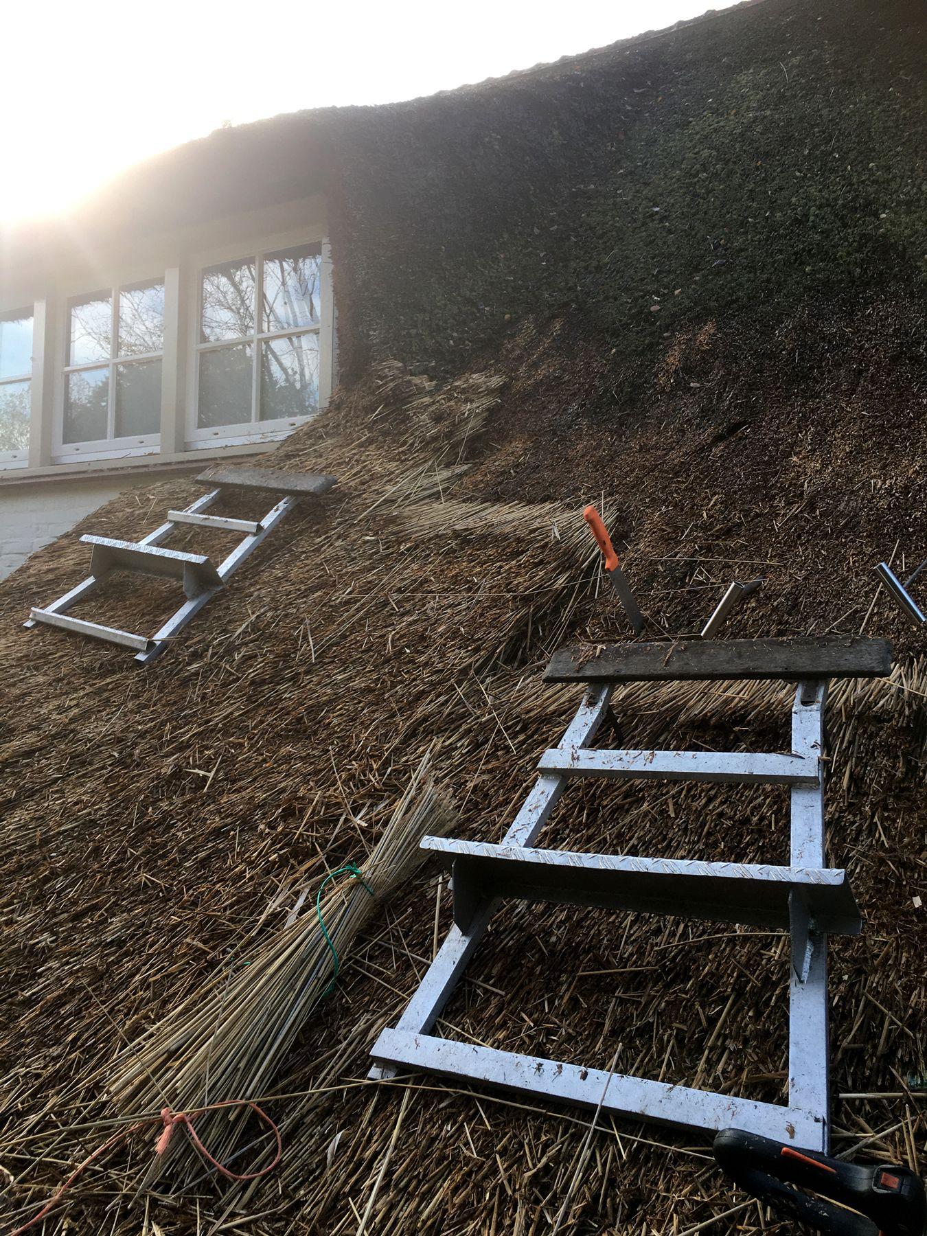 Dakstoelen op een renovatieproject | Rietdekkersbedrijf Scholman